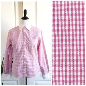 Brooks Brothers Pink Plaids Classic Fitted Shirt